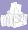 film camera vector image
