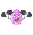 fitness easter egg cartoon clipping on path vector image vector image