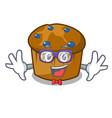 geek mufin blueberry character cartoon vector image