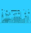 germany kiel winter holidays skyline merry vector image vector image