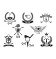 golf sport club symbol set for sporting design vector image vector image