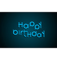 Happy Birthday festive text Dark background with vector image vector image