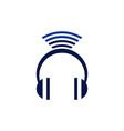headphone wireless logo concept icon vector image