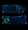 hud interface futuristic banners vector image