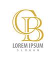 initial letter cb logo concept design symbol vector image vector image