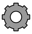 isolated one gear vector image
