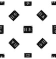 japanese characters pattern seamless black vector image vector image