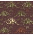 Jurassic Stegosaurus Seamless pattern vector image vector image