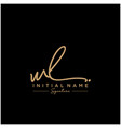 letter wl signature logo template vector image vector image