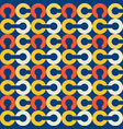 link chain block seamless pattern vector image vector image