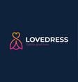 love clothing logo icon fashion boutique dress vector image