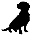 Mixed Breed Silhouette vector image vector image