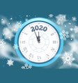 new 2020 year snow poster winter holidays vector image vector image