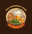 octoberfest concept background cartoon style vector image vector image