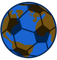 Planet soccer vector image