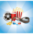 popcorn tickets cinema vector image