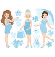 Pregnant Women Set vector image vector image