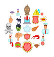 pressure icons set cartoon style vector image vector image
