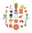 pressure icons set cartoon style vector image