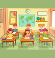 pupil kids at classroom primary school children vector image