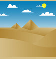 pyramid in desert vector image