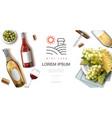 realistic wine premium concept vector image vector image