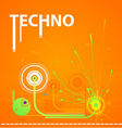 Retro Techno Design vector image