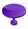 round table icon isometric style vector image vector image