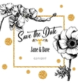 Save the date card template for anniversary vector image vector image