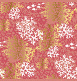 sea coral color seamless pattern vector image vector image