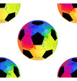 seamless pattern with soccer balls with watercolor vector image vector image