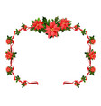 seasons greetings floral frame vector image vector image