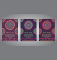 set of flyer templates vector image