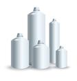 set of silver tank vector image