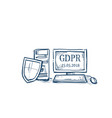shield security and protection personal data on vector image