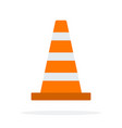 signal traffic cone flat material design isolated vector image vector image