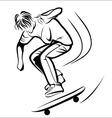 Skater sketch vector image vector image