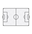 soccer field lines on white background vector image
