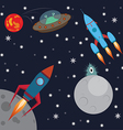 space and aliens vector image