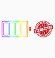 spectrum pixel electric battery icon and vector image vector image