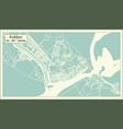 sukkur pakistan city map in retro style outline vector image vector image