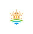 sunlight logo symbol icon design vector image