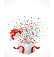 Surprise present box vector image