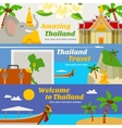 Thailand Travel Banners Set vector image