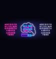 vape shop logo neon vape neon sign design vector image vector image