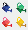 watering can icon Abstract Triangle vector image