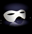 white carnival half-mask vector image vector image