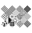 zentangle elements set vector image