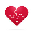puzzle heart vector image