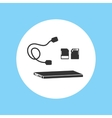 Silhouette Icon Hard Disk File Ssd Footage vector image